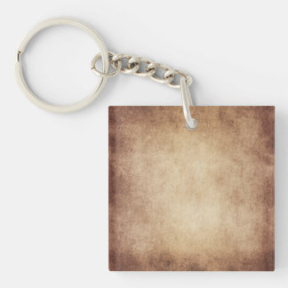 Vintage Aged Parchment Paper Template Blank Acrylic Key Chains