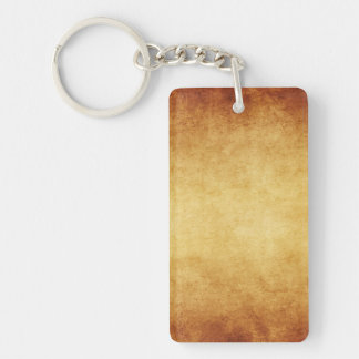 Vintage Aged Parchment Paper Template Blank Rectangular Acrylic Key Chains