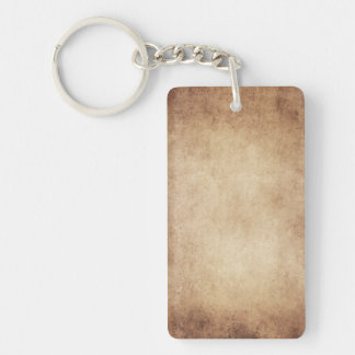 Vintage Aged Parchment Paper Template Blank Rectangle Acrylic Key Chains