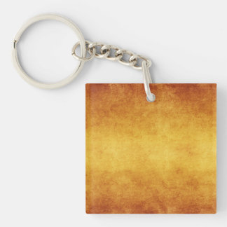 Vintage Aged Parchment Paper Template Blank Square Acrylic Key Chain