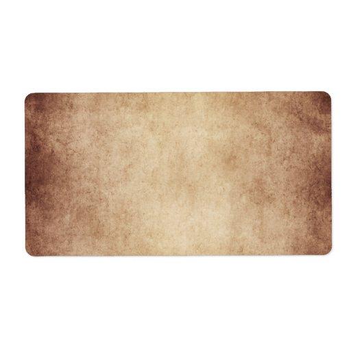 Vintage Aged Parchment Paper Template Blank Label | Zazzle