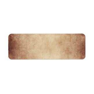 Vintage Aged Parchment Paper Template Blank Label