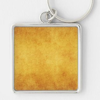 Vintage Aged Parchment Paper Template Blank Silver-Colored Square Keychain