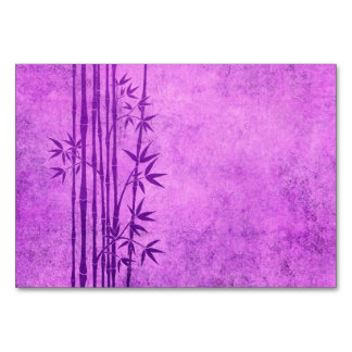 Vintage Aged Purple Bamboo Sticks with Leaves Card
