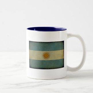 Vintage aged retro Argentina flag Coffee Mugs