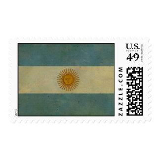 Vintage aged retro Argentina flag Postage Stamp