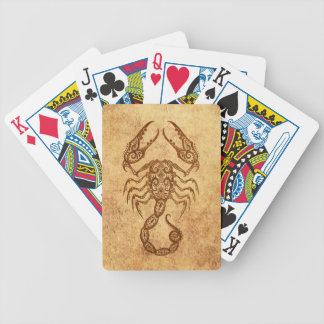 Vintage Aged Scorpio Zodiac Bicycle Playing Cards