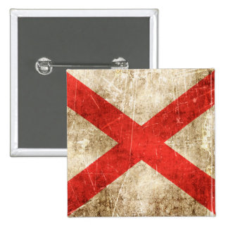 Vintage Aged Scratched Flag of Northern Ireland Pinback Button