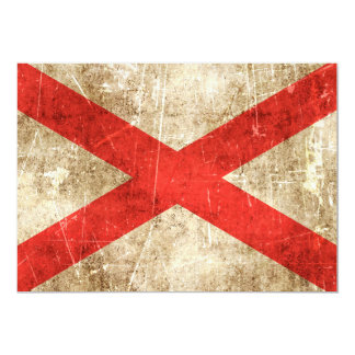 Vintage Aged Scratched Flag of Northern Ireland 5x7 Paper Invitation Card