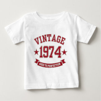 Vintage Aged to Perfection 1974 Baby T-Shirt