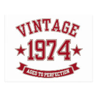 Vintage Aged to Perfection 1974 Post Card