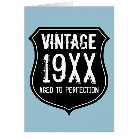 Vintage Aged to perfection Birthday card for men – Vintage Birthday Cards for Men