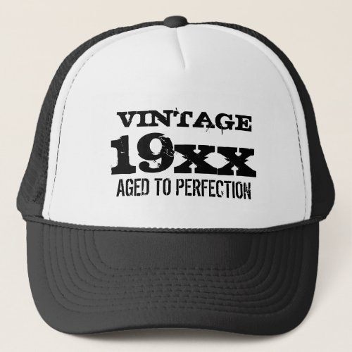 Vintage Aged to perfection Birthday hat for men