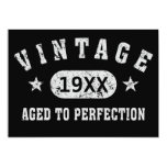 Vintage Aged to Perfection Black Greeting Card
