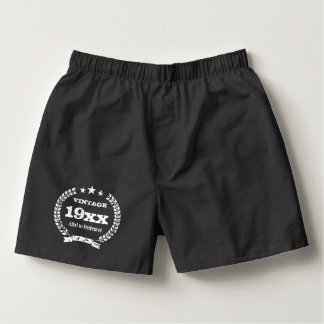 Vintage aged to perfection boxer shorts underwear