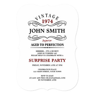 40th Birthday Invitations & Announcements | Zazzle