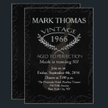 "Vintage Aged to Perfection Invitation<br><div class=""desc"">Fun chalkboard Aged to Perfection Birthday Invitation for your 50th Birthday! Adult Birthday Invitations,  40th Birthday,  Any age. Over the Hill Invitation</div>"
