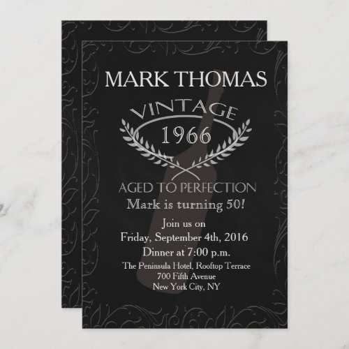 Vintage Aged to Perfection Invitation