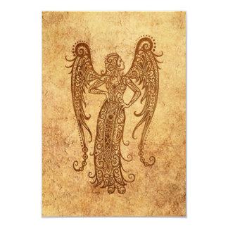 Vintage Aged Virgo Zodiac Invitation