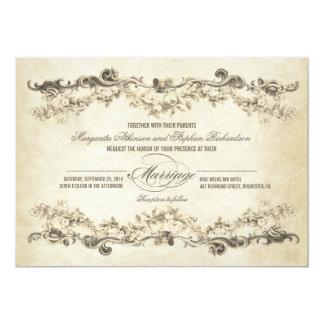 vintage aged wedding invitations