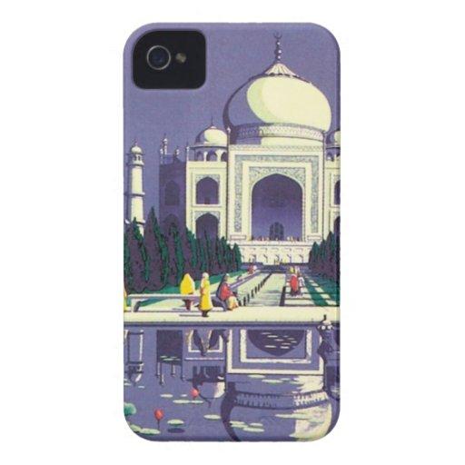 Vintage Agra el Taj Mahal la India iPhone 4 Fundas