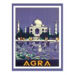 Vintage Agra el Taj Mahal la India Tarjetas Postales