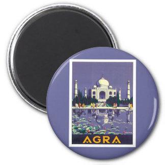 Vintage Agra Taj Mahal India Magnets