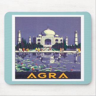 Vintage Agra Taj Mahal India Mouse Pads