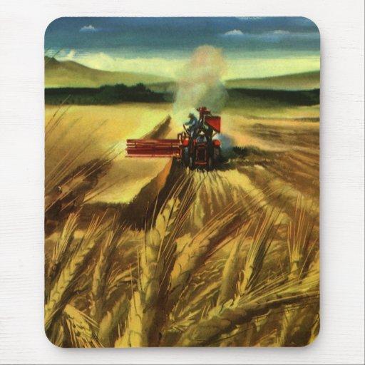 Vintage Agricultural Business, Wheat Farming Farm Mouse Pad