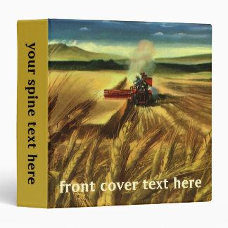 Vintage Agricultural Farm Business, Wheat Farming 3 Ring Binder