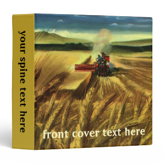 Vintage Agricultural Farm Business, Wheat Farming 3 Ring Binder