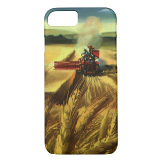 Vintage Agricultural Farm Business, Wheat Farming iPhone 8/7 Case