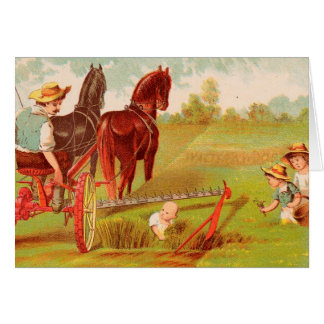 Vintage : agriculture advertising - card