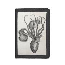Vintage Agronaut Squid Octopus - Aquatic Template Tri-fold Wallet