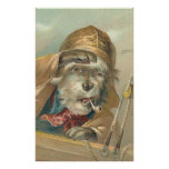 Vintage Ahoy Matey Dog Print