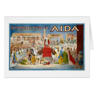 Vintage Aida Hippodrome Opera Company Card
