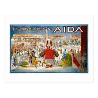 Vintage Aida Hippodrome Opera Company Postcard