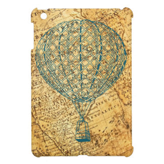 Vintage Air Balloon on World Map iPad Mini Cover