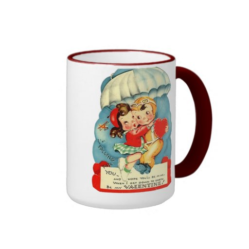 Vintage Air Force Valentine's Day Coffee Mug
