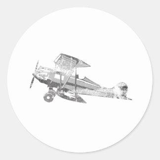 vintage air plane classic round sticker