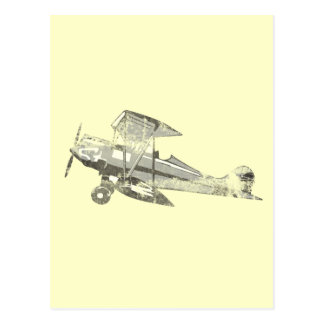 vintage air plane postcard