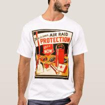 Vintage Air Raid Civil Defense Illustration