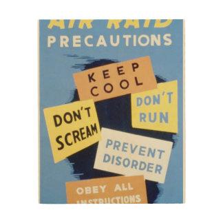 Vintage Air Raid Precautions WPA Poster