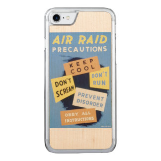 Vintage Air Raid Precautions WPA Poster Carved iPhone 7 Case