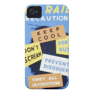 Vintage Air Raid Precautions WPA Poster Case-Mate iPhone 4 Case