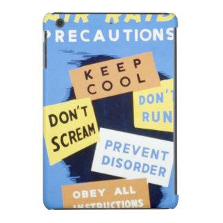 Vintage Air Raid Precautions WPA Poster iPad Mini Retina Case
