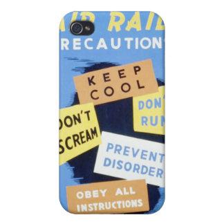 Vintage Air Raid Precautions WPA Poster iPhone 4 Case