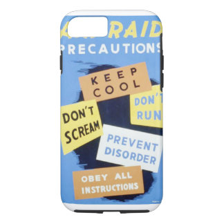 Vintage Air Raid Precautions WPA Poster iPhone 7 Case