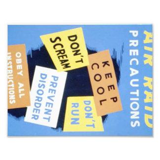 Vintage Air Raid Precautions WPA Poster Photo Print