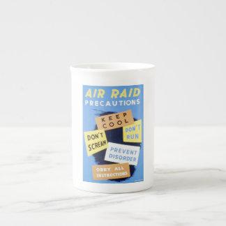 Vintage Air Raid Precautions WPA Poster Tea Cup